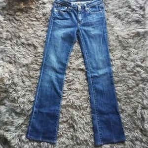 The angle boot cut AG jeans